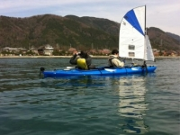 Paddle-sailing Japan