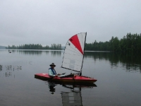 Sailing a Kayak