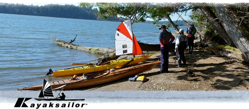 sea kayak sailing kajak seil Pacific Pygmy and Necky kayaks