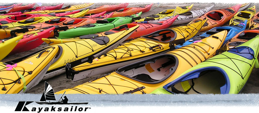 Sea kayaks on the beach kayaking kajak seil