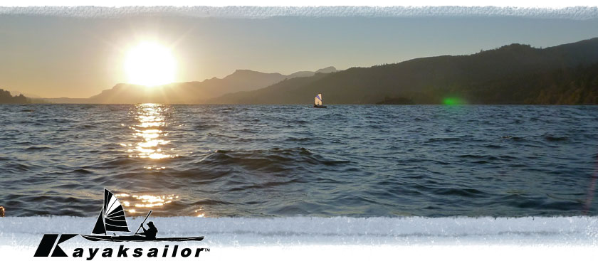 Columbia River kayak sailing is great fun