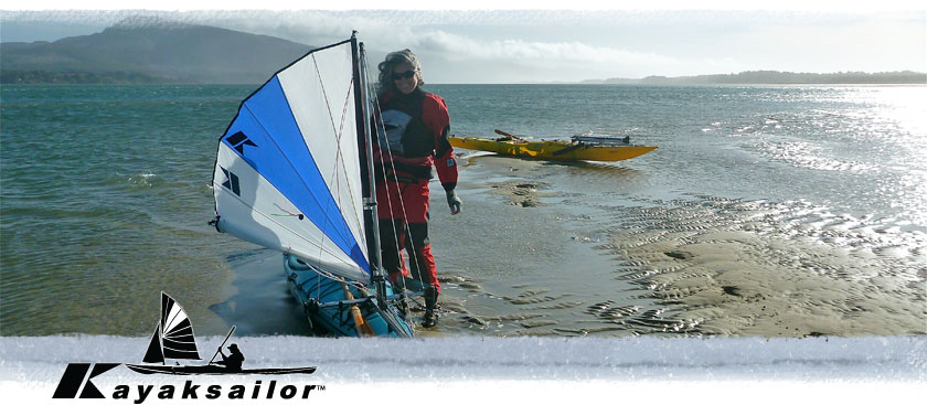 Netarts Bay kayaking and sailing tides wind oregon reefing upwind kayaksailor